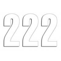 Štartovné čísla Blackbird 2 - biele