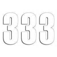 Štartovné čísla Blackbird 3 - biele