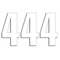 Štartovné čísla Blackbird 4 - biele