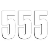 Štartovné čísla Blackbird 5 - biele