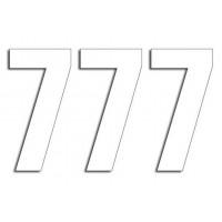 Štartovné čísla Blackbird 7 - biele