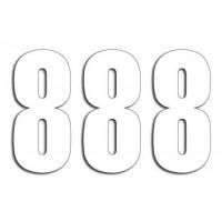 Štartovné čísla Blackbird 8 - biele