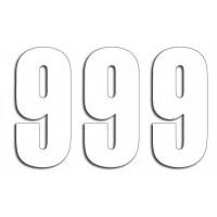 Štartovné čísla Blackbird 9 - biele