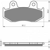 Brzdové platničky DELTA DB2080 MX-D