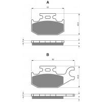 Brzdové platničky DELTA DB2400 MX-D