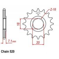 Vývodové koliečko Suzuki RM 125 (80-12) RMZ 250 (07-12)