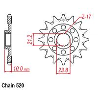 Vývodové koliečko Suzuki RMZ 450 (13-17)