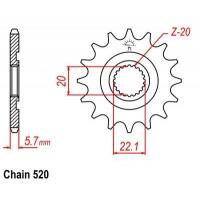 Vývodové koliečko Yamaha YZ 125 (05-17) YZF/WRF 250 (01-17)