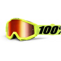 Okuliare 100% Accuri Fluo Yellow - Mirror Red Lens
