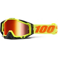 Okuliare 100% Racecraft Attack Yellow - Mirror Red Lens