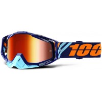 Okuliare 100% Racecraft Calculus Navy - Mirror Red Lens