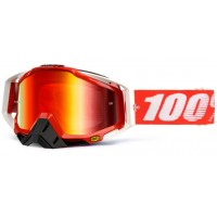 Okuliare 100% Racecraft Fire Red - Mirror Red Lens