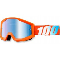 Okuliare 100% Strata Orange - Mirror Blue Lens