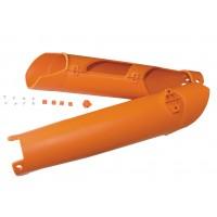 Kryty predných tlmičov KTM SX/SXF (15-) EXC/EXCF (16-) Oranžové