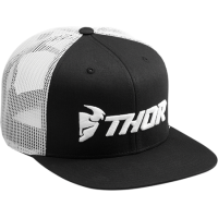 Šiltovka Thor Trucker Snap Black/White